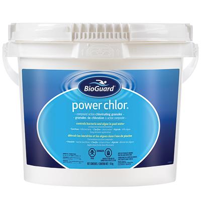 Chlore en granules pour la piscine power chlor bioguard for Chlore dans la piscine