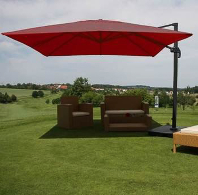 parasol suspendu rouge. Black Bedroom Furniture Sets. Home Design Ideas